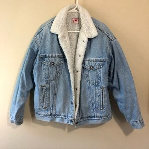 Vintage Levi's Sherpa Denim Trucker Jacket